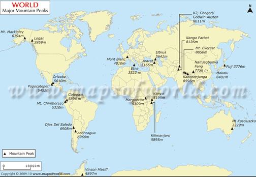 Alps Mountain Range World Map The Image Kid Has It